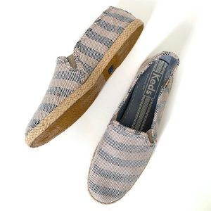 Keds | Striped Rope Sole Slip On Espadrilles 8.5